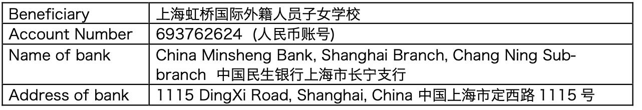 上海虹桥国际外籍人员子女学校报名入学流程