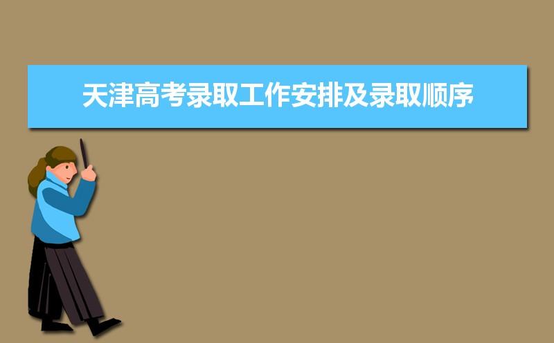 2021年天津高考录取工作安排及录取顺序