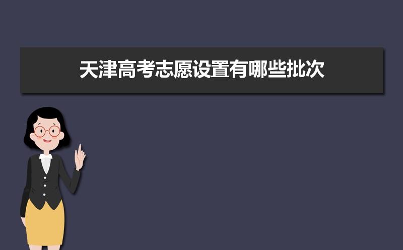 2021年天津高考志愿设置有哪些批次及填报顺序