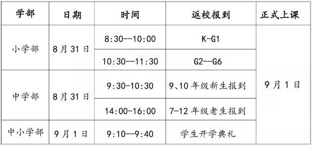 北京市力迈中美学校开学时间及入学要求